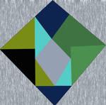 blue and green lozenge
