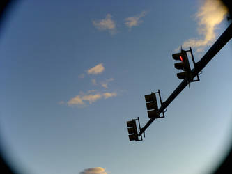 Sky with stoplights by Star121