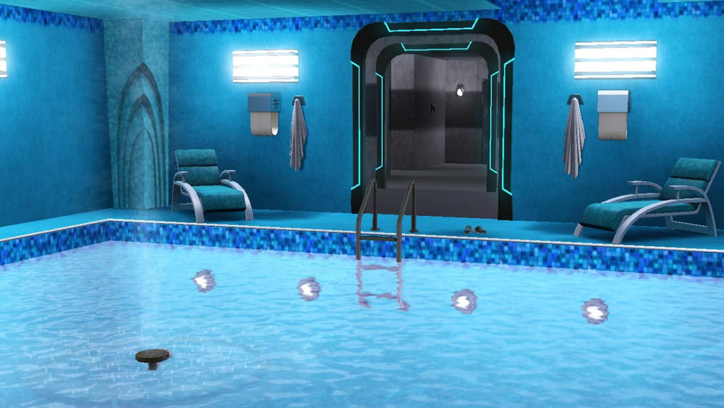 Tardis in the sims 3 pool by anastasiyakosenko on deviantart for Pool design sims 3