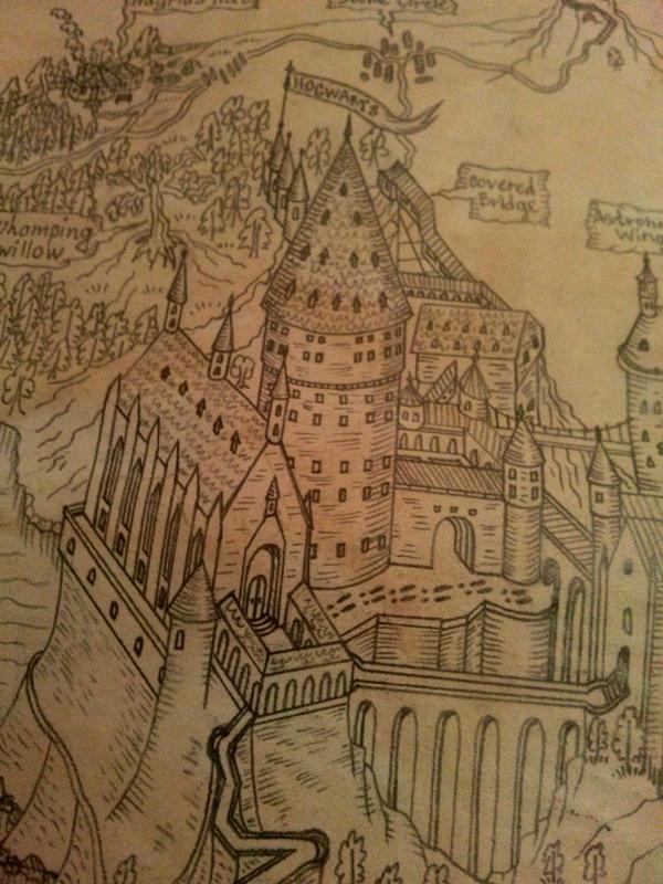 Map Of The Hogwarts And Hogsmeade By AnastasiyaKosenko ...