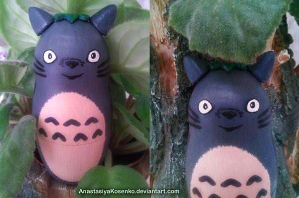 Matryoshka Totoro - Nesting doll by AnastasiyaKosenko
