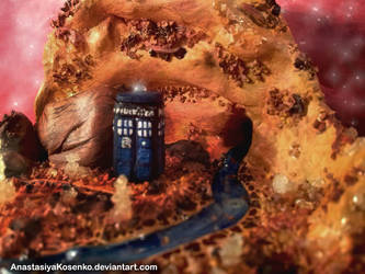 Doctor Who - Amber planet and the TARDIS by AnastasiyaKosenko