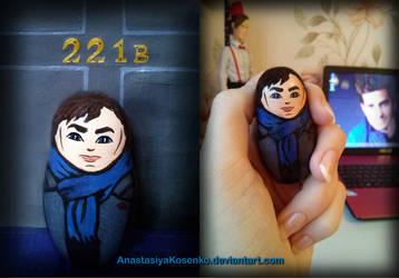 Matryoshka Sherlock BBC - Nesting doll by AnastasiyaKosenko