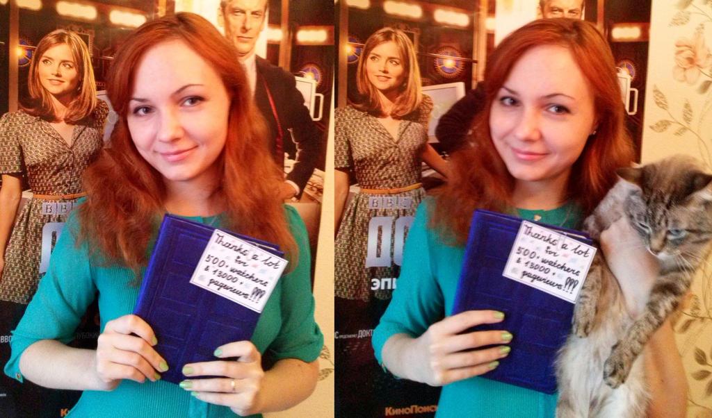 Thanks for 500 + watchers and 13000 + pageviews by AnastasiyaKosenko