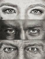 Fringe eyes - Olivia Dunham, Peter Bishop, Walter