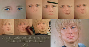 Merlin - Arthur Pendragon (WIP) by AnastasiyaKosenko