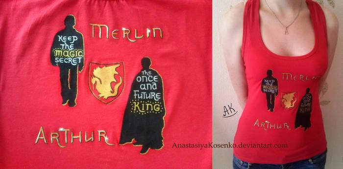 Merlin - Merlin and Arthur Pendragon T-shirt