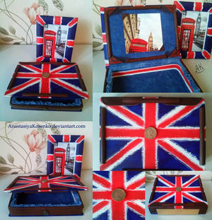 Box and photo frame in Union Jack style