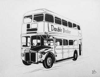 Graphic version of Double Decker bus