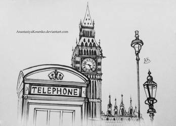 Graphic version of London's sights