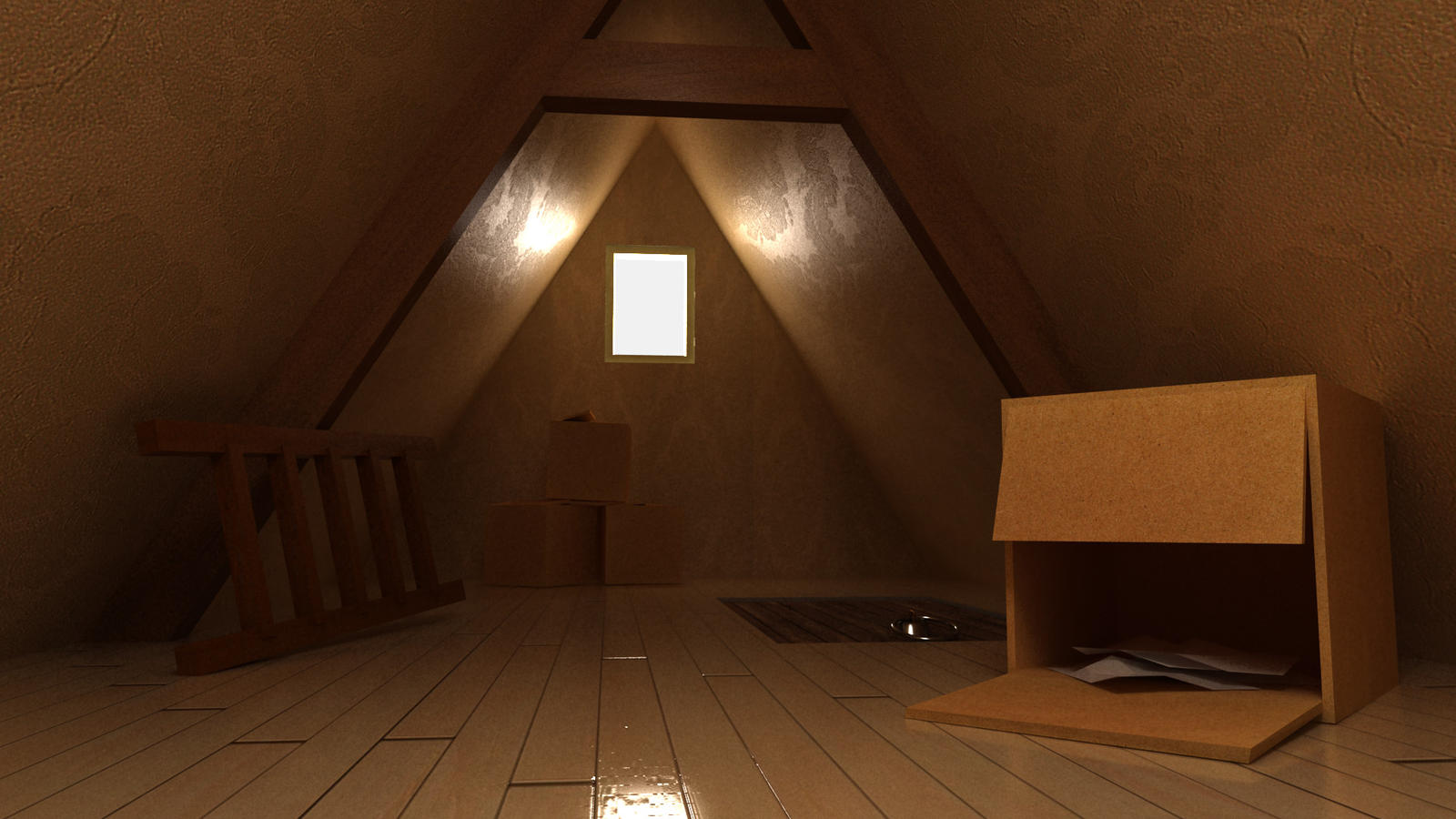 attic in a house by MrAnimator93 attic in a house by MrAnimator93