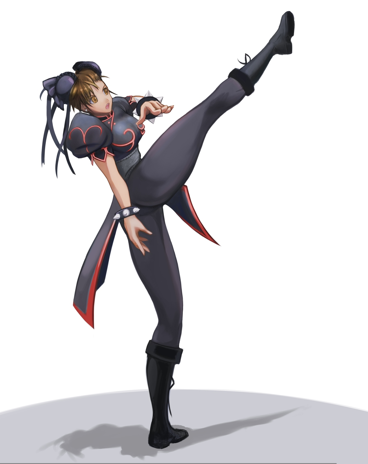 Chun Li, black alt by hybridmink