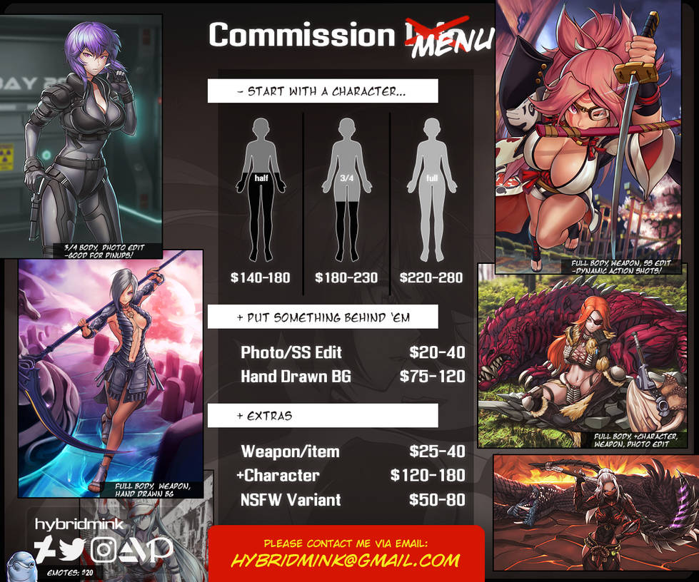 COMMISSION PRICE SHEET (2021)