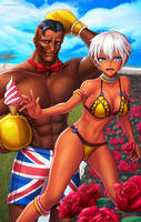 Dudley and Elena Summertime by hybridmink