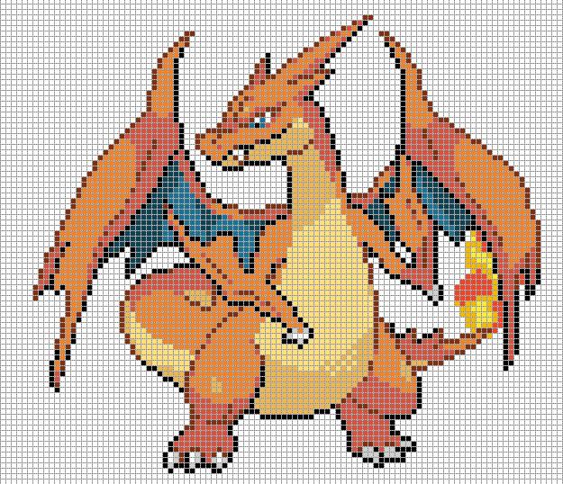 charizard y pixel art