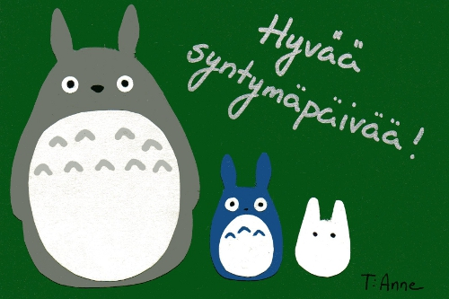 Tonari no Totoro birthday card by CobaltBlueSky on DeviantArt – Totoro Birthday Card