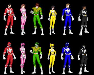 Mighty Morphin Power Rangers Season 1/2 Team