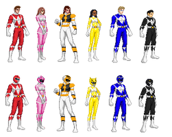Mighty Morphin Power Rangers Season 2/3 Team