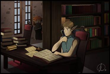 Last Sword - Library Scene by ScarabDynasty1