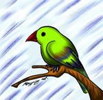 Green Blue Bird