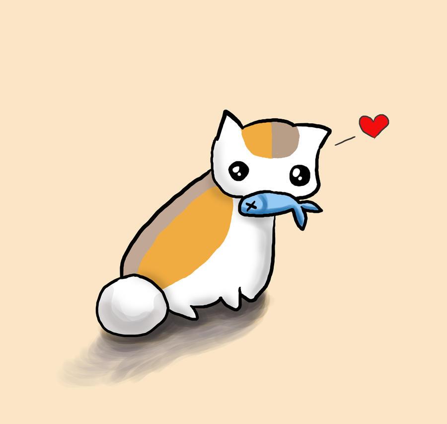 Neko Sensei loves Fish