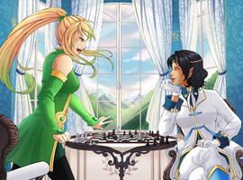 Com - Miflore - Arrina and Selonie by Spartaphyx