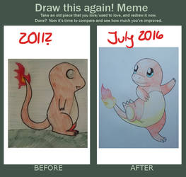 Charmander Improvement Meme by Lunitidal