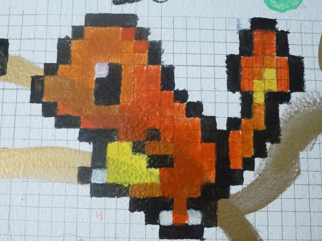 Charmander and Squirtle pixel art Minecraft Project