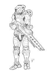 Anti-Materiel Sniper w/ EWAC.