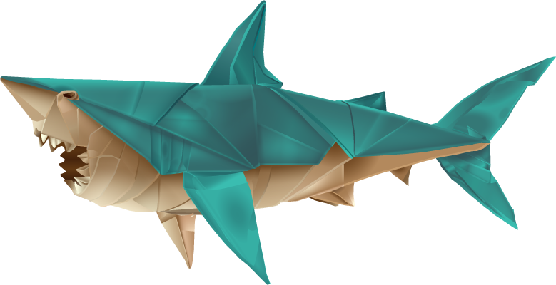 Fold Your Own Origami Shark At Home | Origami shark, Origami easy ... | 400x779