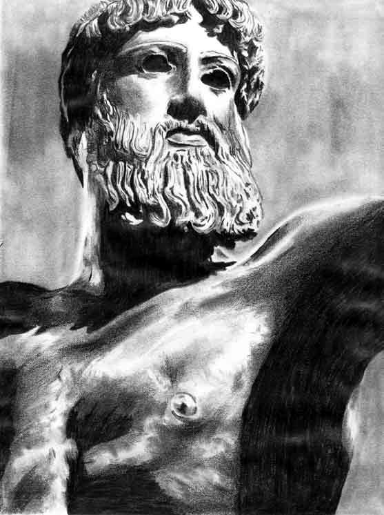Poseidon Statue Wallpaper