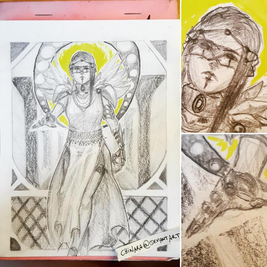 Protector - Sketch by chinara