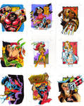 X-Men sketch cards 5
