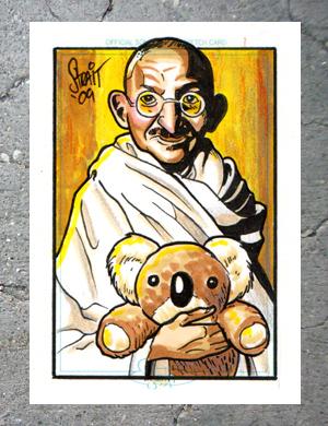 Gandhi sketch card by Sonion