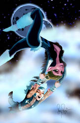 Elfquest Skywise and Aoree by Sonion