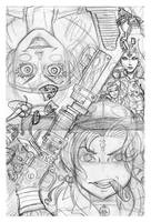 Cover pencil roughs