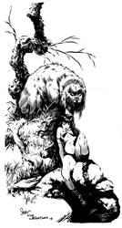 Bernie Wrightson Inking Study by Sonion