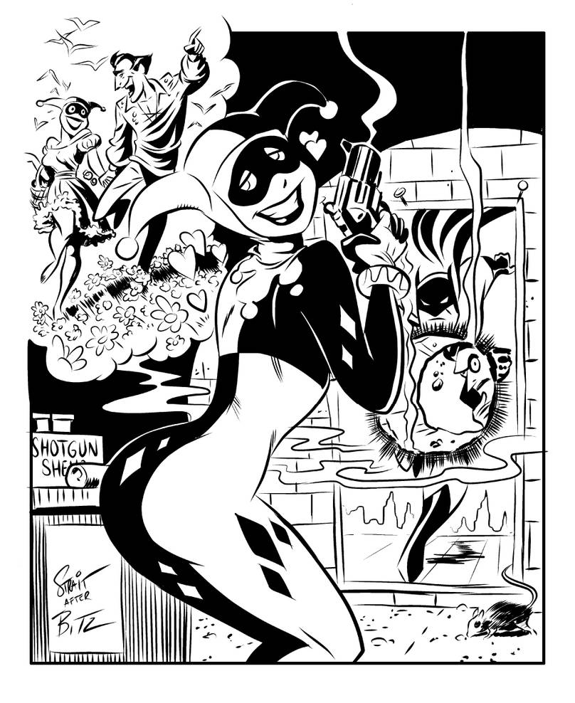 Bruce Timm inking study by Sonion