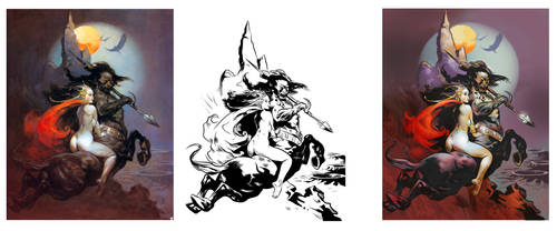 Deconstructing Frazetta by Sonion