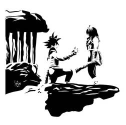 Bardock proposes to Gine
