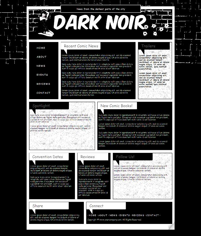 Comic Book Website Template 2 by Kimlita on DeviantArt