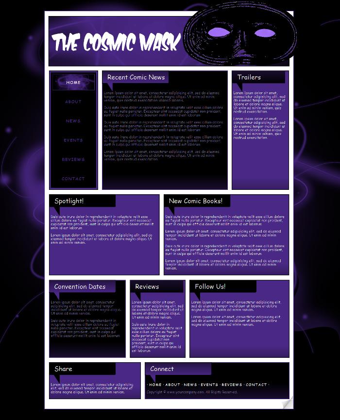 Comic Book Website Template 3 by Kimlita on DeviantArt