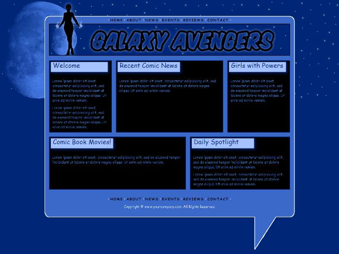 Comic Book Website Template | Template Design