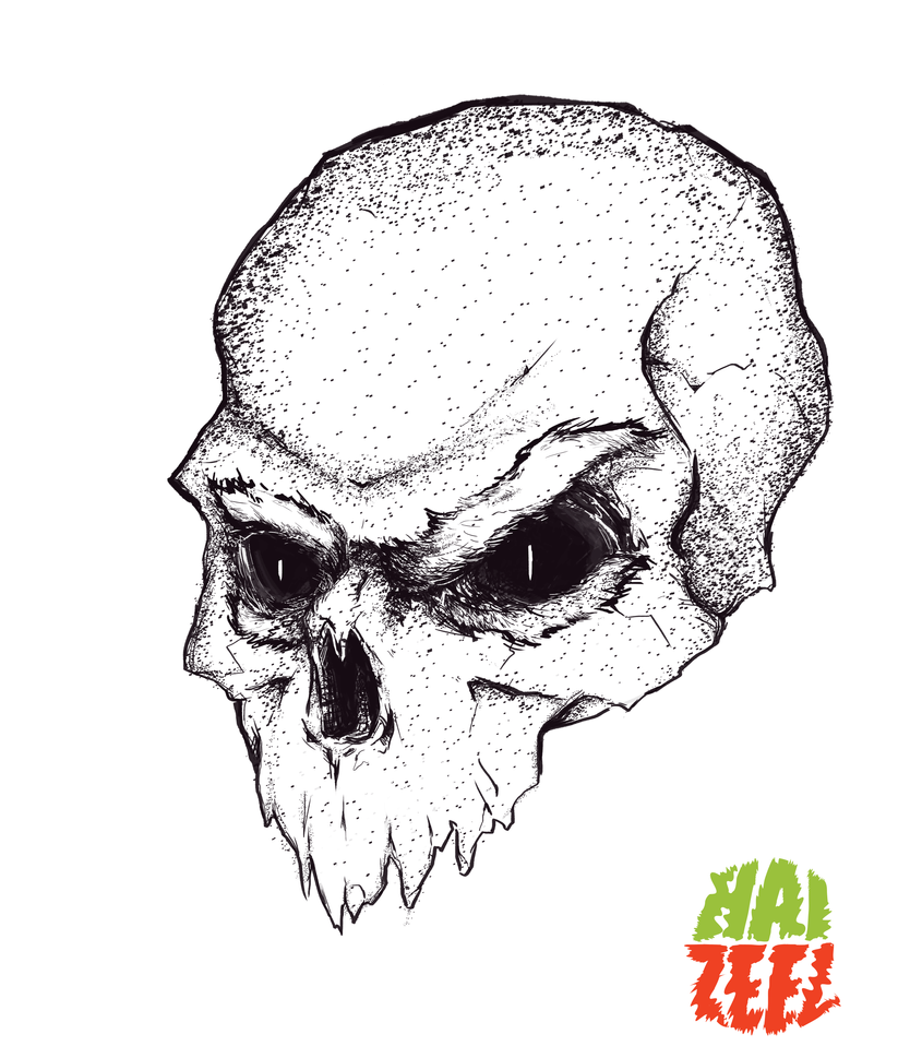 Skull With Brow by Haizeel