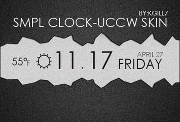 SMPL CLOCK UCCW SKIN by kgill77