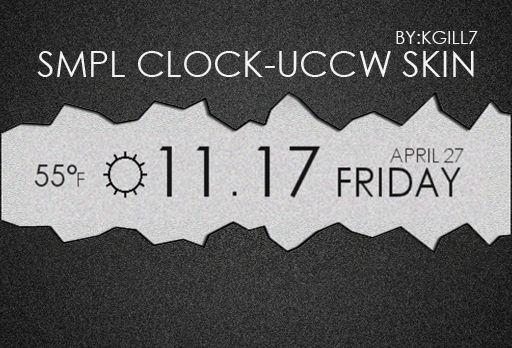 SMPL CLOCK UCCW SKIN