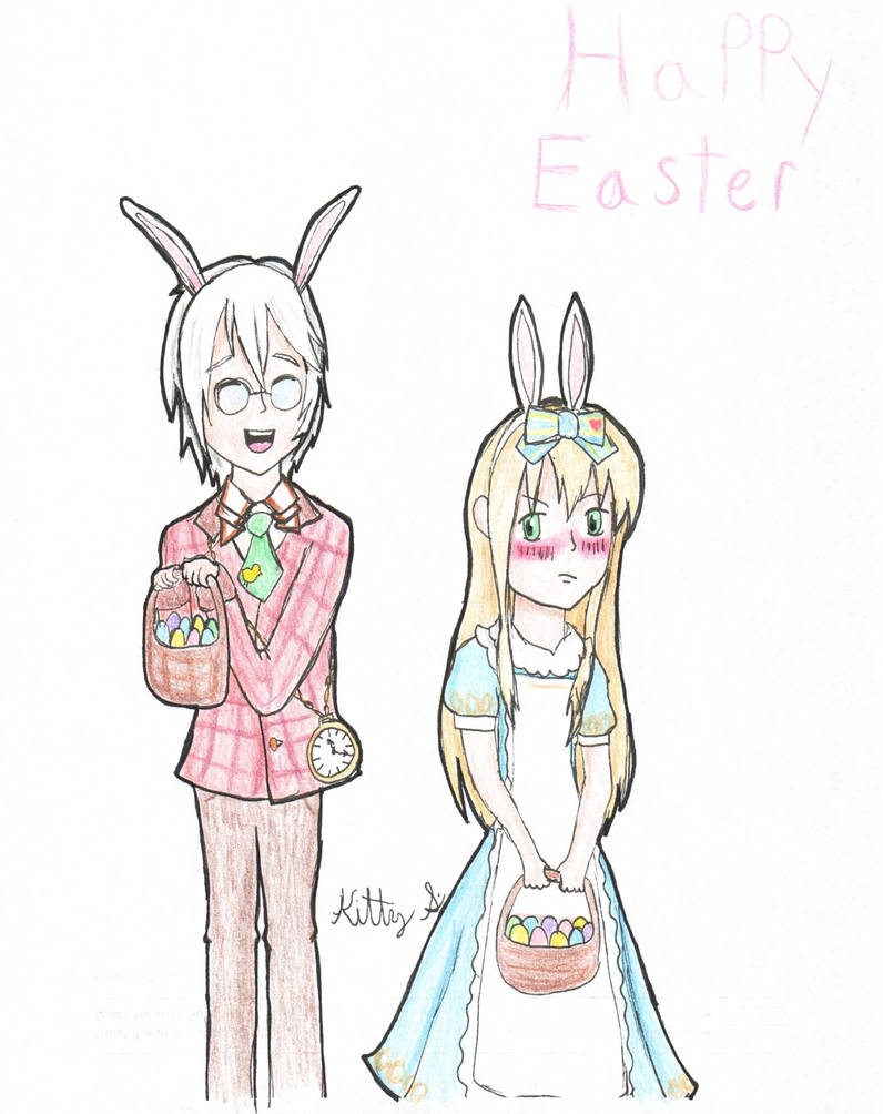 Alice and Peter - Color Pencil Version by AnimeKitty44