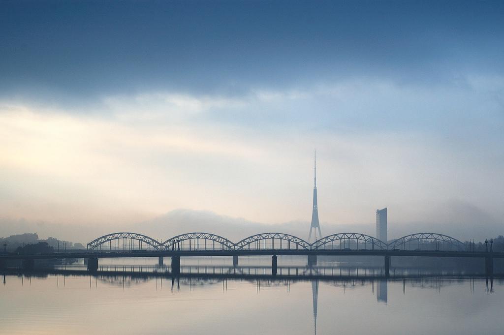 Sleepy morning rises over Riga by trakais