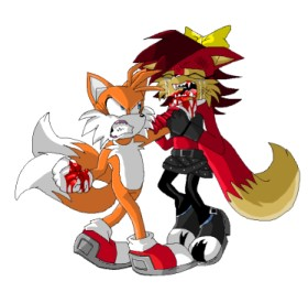 Tails punches Fiona by FoxAffliction