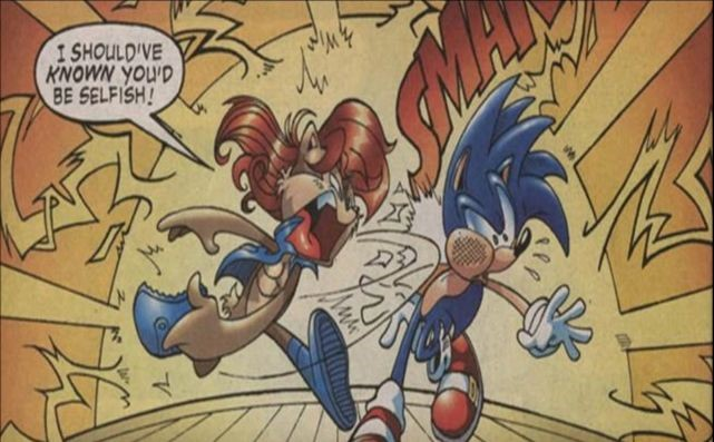 Image result for Archie sonic and sally slap